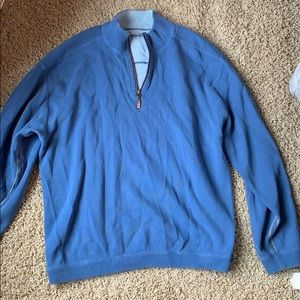 Blue 1/2 Zip Tommy Bahama Pullover